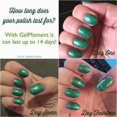 GelMoment Polish lasts up to two weeks - sometimes longer! How long does your polish last? #gelmoment