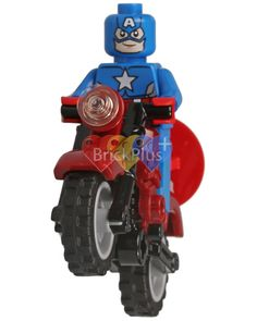 LEGO Captain America Minifigure from 76017 Captain America Vs. Hydra, Digital file, Instant download by Brick2you on Etsy