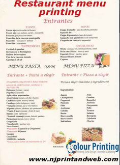 Restaurant Menu Printing And Takeout Menu Printing Is Easy At