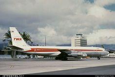 Trans World Airlines - TWA Boeing 707-331B N18701 at Honolulu-International, August 1969. (Photo: Jon Proctor)