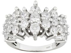Bella Luce (R) 4.55ctw Round Rhodium Plated Sterling Silver Ring