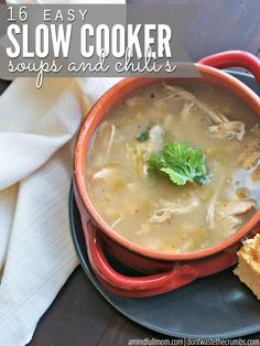 Frugal & delicious slow cooker soups and chilis using fresh fall ingredients. Perfect for chilly nights, my family loves these slow cooker soups and chilis!