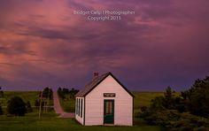 Twilight at Pine Grove School, established 1912 | by Bridget Calip - Alluring Images