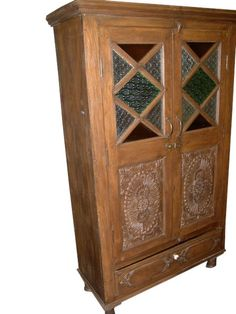 Eclectic Antique Armoire by baydeals Indian Furniture, Rustic Furniture, Antique Furniture, Home Furniture, Medieval Furniture, Glass Furniture, Furniture Cleaning, Antique Wood, Furniture Market
