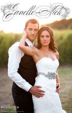Nick, an NHL Hockey player and his bride Janelle.