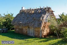 This Bermuda replica house built in the same style as the settlers did in the 1600s — complete with a palmetto thatch roof — is located on the Carter House grounds in St. David's. http://bernews.com/tag/bermuda-real-estate/