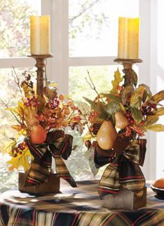 Fall thanksgiving decor - Thanksgiving Candle Displays Ideas And Placements – Fall thanksgiving decor Harvest Decorations, Thanksgiving Decorations, Halloween Decorations, Holiday Decor, Thanksgiving Table, Vintage Thanksgiving, Fall Arrangements, Autumn Decorating, Decorating Ideas