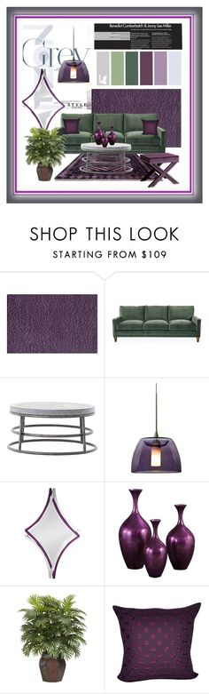 """Green and Gray Zone"" by kathy-martenson-sanko ❤ liked on Polyvore featuring interior, interiors, interior design, home, home decor, interior decorating, Momeni, Besa Lighting, Deknudt Mirrors and Howard Elliott"