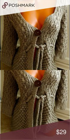 ANTHROPOLOGIE Kenji SWEATER Brown MEDIUM Wool So Chic!! Size Medium. In gentle pre-owned condition Anthropologie Sweaters