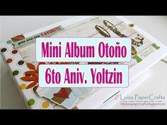 Mini Album Otoño Fácil | Tutorial Scrapbook | ENG SUBS | Luisa PaperCrafts - YouTube