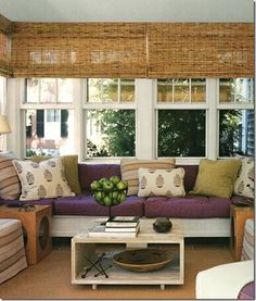 Adore bamboo/matchstick blinds, just about anywhere.  Design by Patricia Grey.  Photo by Tom Scheerer.