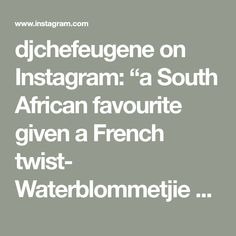 "djchefeugene on Instagram: ""a South African favourite given a French twist- Waterblommetjie bredie cooked with apple, potatoes and wine. Served with watercress garnish…"" Eugene Kitchen, Cooked Apples, No Cook Meals, Potatoes, African, French, Wine, Cooking, Instagram"