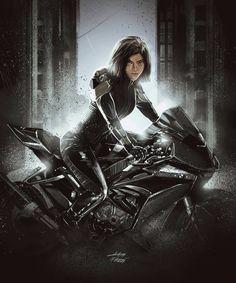 Alita Movie, Alita Battle Angel Manga, Cyborg Girl, Joker Hd Wallpaper, Geek Movies, Green Lantern Corps, Epic Movie, Warrior Girl, Bad Girl Aesthetic
