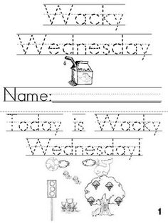 1000 ideas about Wacky Wednesday
