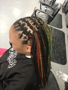 Black green and red Locs. Natural Divinity 9014356421 Ask for Yvette