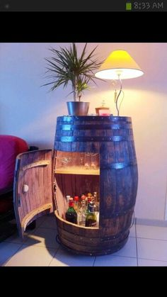 Neat idea for the basement bar