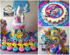Torta, gelatina, galletas y cupcake´s de las Princesas de Disney