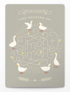Simon + Simone: playful wedding suite by Adam Hill