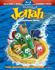 VeggieTales Movie: Jonah - Christian Movie/Film on DVD/Blu-ray. Get ready as Bob the Tomato, Larry the Cucumber and the rest of the Veggie Tales gang set sail on a whale of an adventure in Jonah, Big Idea's first full-length, 3-D animated, feature film.  http://www.christianfilmdatabase.com/review/veggietales-movie-jonah/