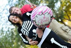 Our halloween baby gender reveal