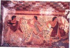 Interior of Etruscan tomb