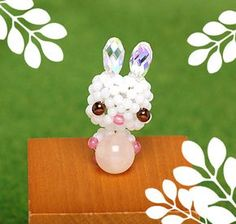 3D Beaded Bunny holdng a ball (bead) PATTERN