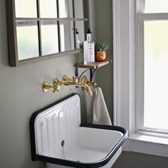 Alape Bucket Sink with Navy Trim | Rejuvenation