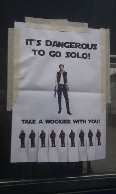 It's dangerous to go Solo! #starwars