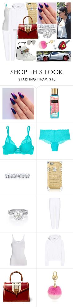 """Mardi 25 Avril 2017 Matin (7H)"" by laurie-1994 ❤ liked on Polyvore featuring Victoria's Secret, Calvin Klein Underwear, Tiffany & Co., De Beers, Vetements, James Perse, Gucci, Christian Dior, Ferrari and Giuseppe Zanotti"