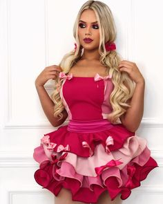 Girly Girl Outfits, Cute Outfits, Dress Skirt, Dress Up, Fetish Fashion, Girl Costumes, Pink Dress, Girl Fashion, Sexy Outfits