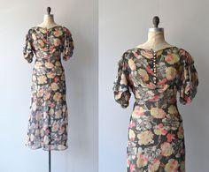 Floral Jubilee Kleid Jahrgang der 1930er Jahre von DearGolden