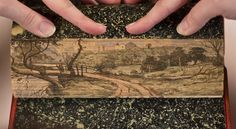 """A fore-edge painting is a scene painted on the edges of the pages of a book. Often, books with fore-edge paintings look perfectly normal when closed. However, once the pages are fanned, the fore-edge painting becomes visible."" (Quotation Mr. Finch)"