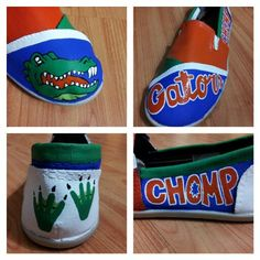 Florida Gator shoes I hand painted for a friend.