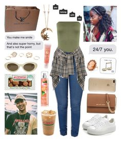 """Dating jay park"" by raven-so-cute ❤ liked on Polyvore featuring Puma, MICHAEL Michael Kors, WearAll, Speck, Vivienne Westwood Anglomania, Louis Vuitton, Elizabeth and James, GUESS, Roberto Cavalli and Lancôme"