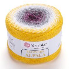 Flowers ALPACA YarnArt Yarn 250 grams 940 meters ombre yarn gradient yarn crochet yarn rainbow yarn knitting yarn cake multicolor yarn