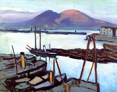 The Bay of Naples at Sunset / Albert Marquet - circa 1908