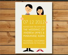 I think you guys should do the illustrated couple thing on your save the dates and invites.