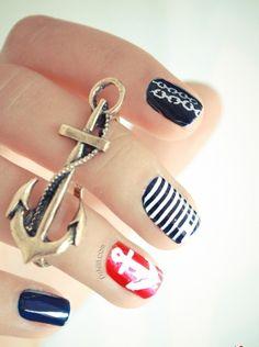 #nails #nailart anchors ⚓