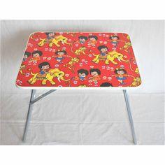 bunter Kinder Klapptisch Vintage  Camping Spieltisch