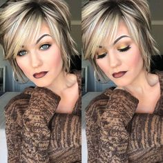 Ombré Lip- 20 Stunning Looks to Try Right Now – The Bluegrass Housewife Ombré Lip- 20 Stunning Looks to Try Right Now – The Bluegrass Housewife Layered Bob Hairstyles, Short Pixie Haircuts, Short Hair With Layers, Short Hair Cuts, Medium Hair Styles, Short Hair Styles, Ombre Lips, Pink Lips, Haircut And Color