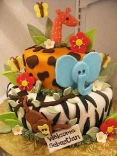 Le gateau d'anniversaire savane - Momes.net