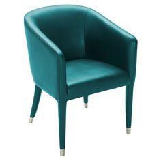 Teal Leather Armchair