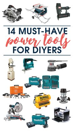 This is AWESOME! A source list of 14 must-have power tools for DIYers by A Crafted Passion.