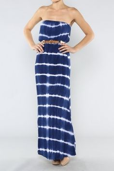 The Day Off Belted Maxi Dress In Blue - New Arrivals