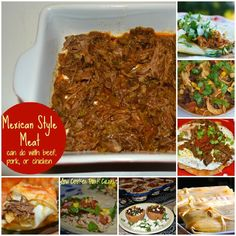 Mexican Style Meat – A Base for a TON of Meals!