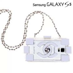 Chanel electroplate building block Samsung Galaxy S5 cases silver Free Shipping - Deluxeiphonecase.com