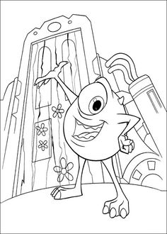 find this pin and more on dibujos para colorear para nios by activweb tegninger til farvelgning monsters inc nice coloring page