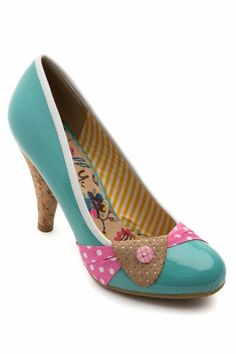 Dolly Do - Susy Baby Blue Cork pumps