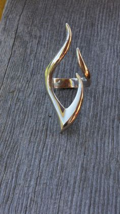 Flame ringsolid sterling silver  women's by MOUNTAINFORGERY, $155.00