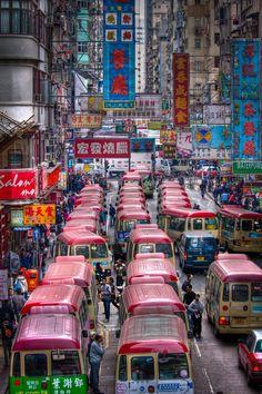 The streets of Hong Kong !
